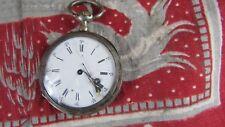 ancienne petite montre a gousset  argent 10 rubis 88