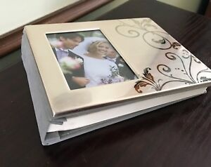 New Autograph Memory Wedding / Shower / Anniversary Guest Book w Photo