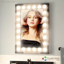 Crystal Vision Hollywood Style Makeup Mirror LED Light Kit -Dome Warm White 10ft