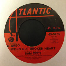 Sam Dees - Worn Out Broken Heart / Come Back Strong (VG Single, '74 Soul)