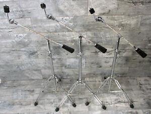 3 Stück Galgenbeckenständer mit Gewicht für Bastler defekt Drums Schlagzeug