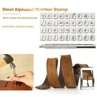 36pcs Steel Alphabet Number Stamp Punch Set for Leather DIY Craft Tools Kit