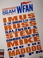 "1995 IMUS 66 KFAN New York Mets Mike & Mad Dog Original Print Ad 8.5 x 11"""