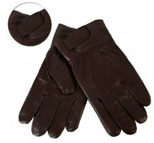 Mens Brown Soft Sheep Nappa   Leather Gloves By Lorenz XL New