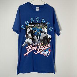 HARLEY Blue Toronto Blue Jays Baseball T-Shirt 1992 Vintage Retro Medium M