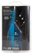 Belkin ProAV 1000 Series Mini-Stereo To RCA Audio Cable 2M Black