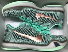 outlet store 22ce1 fe480 Nike Kobe X 10 Low ID Flyknit Mint Green What The Christmas Grinch Sz 10.5