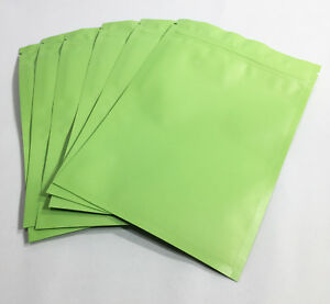 50 Smell Proof! Blue Green or Gold Foil Mylar No Stink Zip Lock Bags HEAT SEAL