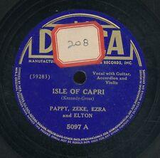 78tk-hillbilly  -DECCA 5097-Pappy,Zeke,Ezra and Elton (Guitar/Accordion/violin)