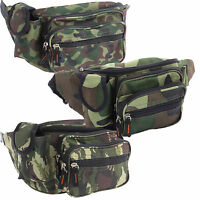 Camo Fanny Pack Travel Gear Water Resistant Waist Bag Camping Hunting hiking