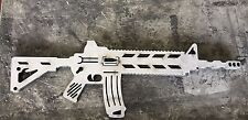 AR15 M16 Tactical Man Cave Gun Silhouette Metal Wall Sign Cut Out