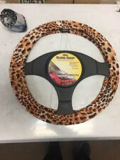NEW STRETCH LEOPARD / CHEETAH STEERING WHEEL COVER ~
