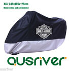 New Extra Large 245x105x125 Thick Waterproof Motorbike Cover for Harley-Davidson
