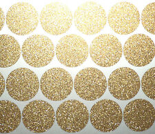 80 1'' gold glitter polka dot stickers, adhesive paper gold dots