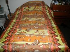 Custom Made Yellow silky Twin bedspread Lined