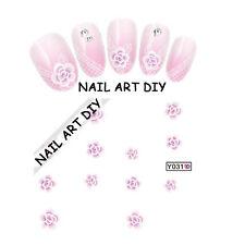 20 Adesivi per unghie FIORI con Pizzo-Stickers-Nail art water transfers-decals!!