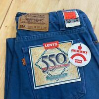 Vintage Levi's 550 Orange Tab Relaxed Fit Jeans USA made 30 x 34 tag Tapered leg