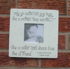 Personalised Shabby Chic Auntie Photo Frame Gift