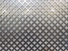 "DECORATIVE CLOVERLEAF PATTERN PERFORATED STEEL 12"" X 12"""