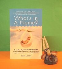 Susan Osborn: What's in a Name? Origins & Meanings of More Than 3,000 Names