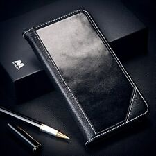 Samsung Galaxy Note 8 Genuine Real Leather Wallet Stand Phone Case Cover BLACK