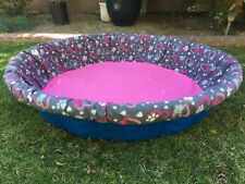 LARGE Fleece Whelping Pool Box Cover -Litters Puppies - Kiddie Wading Paw Prints