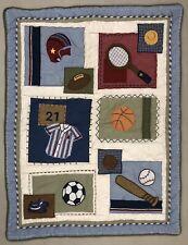 "Kids Boy's Sports Quilt Throw Blanket -Crib Toddler 33""x44"" Pottery Barn ?"
