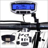 Wired Cycling Bike Computer Bicycle Speedometer Odometer Digital LCD Backlight