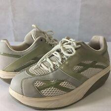 MBT Sneakers Comfort Walking Tennis Rocker Shoes White Green Sz US 9 Eur 39 2/3