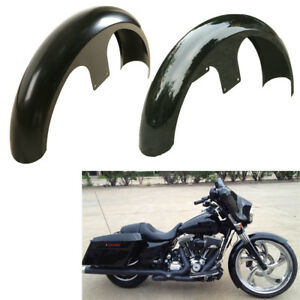 "Unpainted/Painted 26"" Wrap 6'' Front Fender Fit For Harley Custom Baggers Glide"