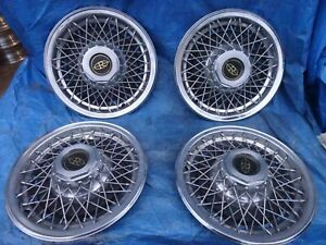 "1977 1978 Buick Riviera 15"" wire spoke hubcaps wheel covers set of 4"