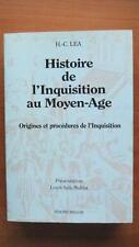 HISTOIRE DE L'INQUISITION AU MOYEN-ÂGE T. 1 - H.-C. LEA - HISTOIRE - RELIGION