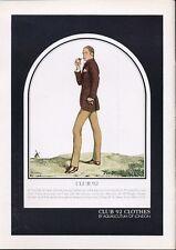 1969 Club 92 by Aquascutum of London Fashion Men Dress Clothes PRINT AD