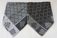 "Mahogany Morroca Grey Dinner Fabric Napkins 20""x20"" Grey/Black & Black/Grey S/8"