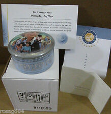 """Franklin Mint Princess Diana """"Angel Of Hope� Music Box Plays """"Mozart's Lullaby�"""