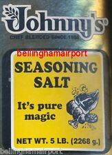 Johnny's Seasoning Salt FIVE POUNDS HUGE! SuperFastFREE Ship! 2268 Servings WOW