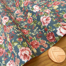 "per half metre Tilly floral slate colour fabric 100% cotton poplin  44 "" wide *"
