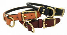 Auburn Leathercrafters QUALITY Leather Rolled Combination Choke Dog Collars