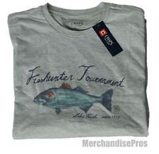 CHAPS 'FRESHWATER TOURNAMENT' LAKE POWELL FISHING TEE GRAY T-SHIRT XL NEW!