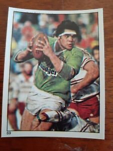 1984 SCANLENS RUGBY LEAGUE STICKER #69, David Grant,  Canberra Raiders