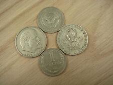 LOT 4 Old Russia Russian USSR LENIN Kopek 1 Rouble Rubel Coin Nr 6194