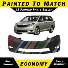 NEW Painted To Match- Front Bumper Cover Replacement for 2011-2015 Toyota Sienna