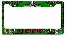 L@@K! 8 bit Final Fantasy License Plate Frame -  Fighter Thief Black Mage White