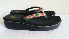 New Volatile shinebrigt black sandals. Sz10. RT49.