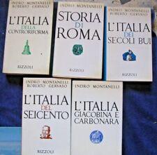 L ITALIA    indro montanelli  lotto 5 volumi