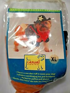 Canine Sherruff Halloween Costume Extra Large Happy Tails Cowboy Costume Sheriff