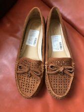 77adc120e9bc MICHAEL KORS Olivia Moc Acorn Leather Flat Shoes Women's Sz 6.5 NWB