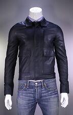 NWOT New * VALENTINO * Navy Blue Leather Bomber Jacket Eu 46 - US 36