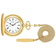 2019 NEW SEIKO WATCH Pocket watch with gold case lid with chain SAPQ008