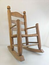 Vintage Childs Rocking Chair Solid Wood heavy duty woven seat